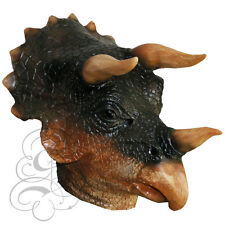Latex Full Head Animal Cosplay Triceratops Dinosaur Fancy Carnival Party Mask