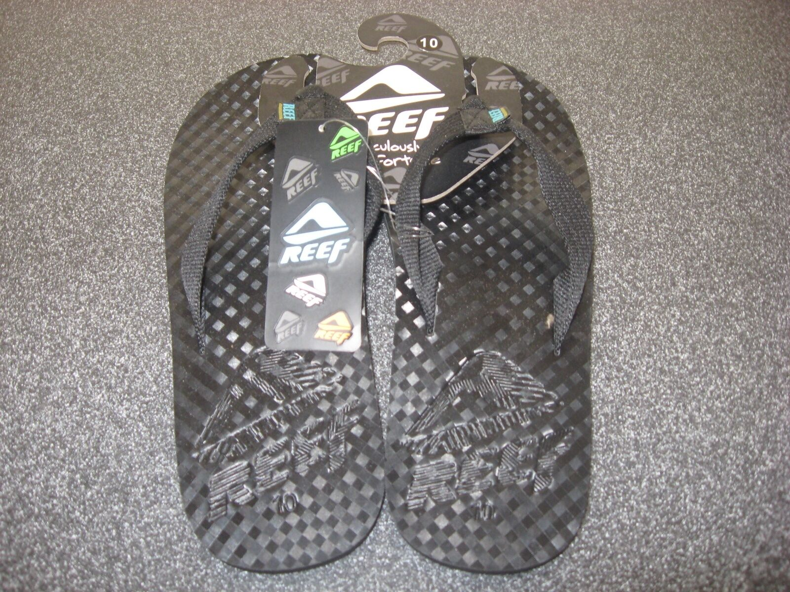 eb44e599b9d6 New Mens Reef Black Flip Flop Sandals Size 10 Nordstrom s Nordstrom s  Nordstrom s BRAND NEW WITH TAGS 478290