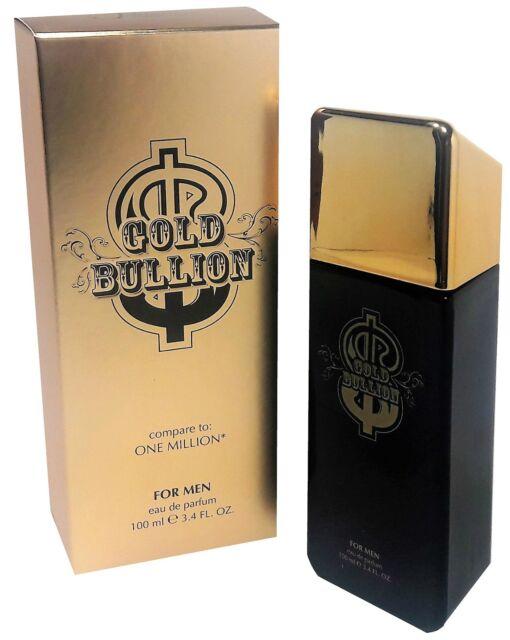 2092461383e3 Gold Bullion Cologne 3.4 FL. Oz. EDP For Men Compare To One Million Spray