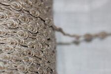 "Wholesale Roll 218 yards Tan FRENCH rosebud Natural Jute Linen sewing trim 1/4"""