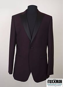 New-Mens-Plum-Tuxedo-Dinner-Jacket-Formal-Wedding-Groom-TUXXMAN-Jacket-Tux-Coat