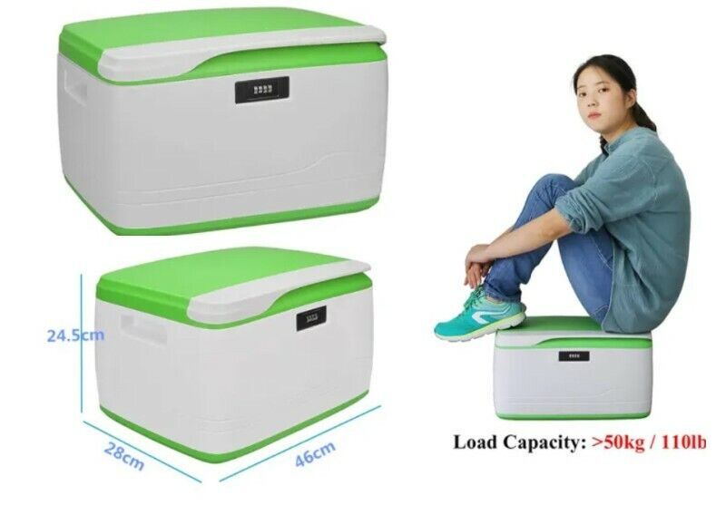 New! 32L Coded Lock Strong Storage Container