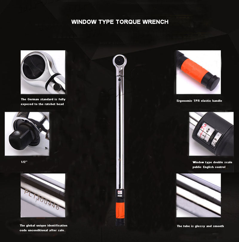 1 2  Torque Wrench 20-220NM with Storage Case Industrial grade New