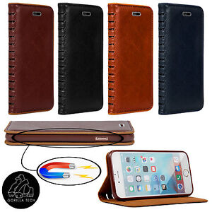 Gorilla-Tech-PVC-Book-Smart-Leather-Protective-Flip-Wallet-Case-Magnetic-Closure