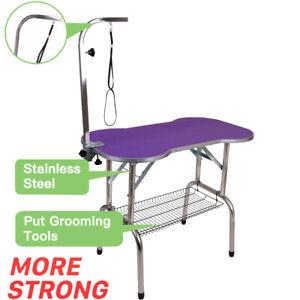 38-Heavy-Duty-Pet-Professional-Dog-Bone-Pattern-Foldable-Grooming-Table-Purple