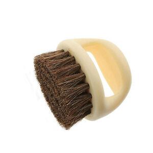 Natural bristle horse hair shoe shine polish buffing brush - Natural horse hair interior upholstery brush ...