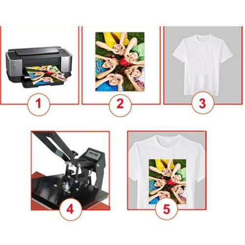 100x A4 Dye Sublimation Heat Überweisungs Papier Cup Plate T-Shirt DIY Handmade