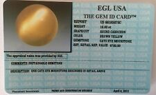 EGL USA CERTIFIED NATURAL CATS EYE MOONSTONE ROUND CABOCHON 18.80 CT VALUE $760