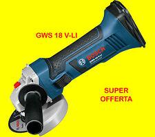 Smerigliatrice angolare batteria Bosch GWS 18V-LI senzabatterie IN CARTONE D115