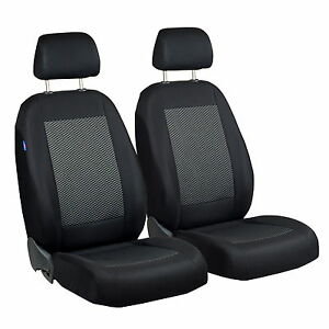 Schwarz-Graue-Triangles-Seat-Covers-for-Mercedes-Benz-E-Class-Car-Front