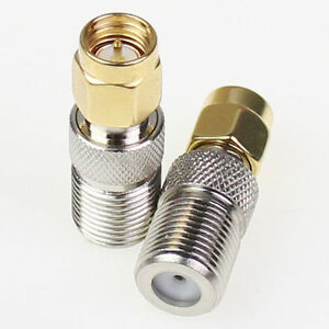 2 Pcs F Type Female Jack To Sma Male Plug Coax Coaxial Connector Rf Adapter Ebay