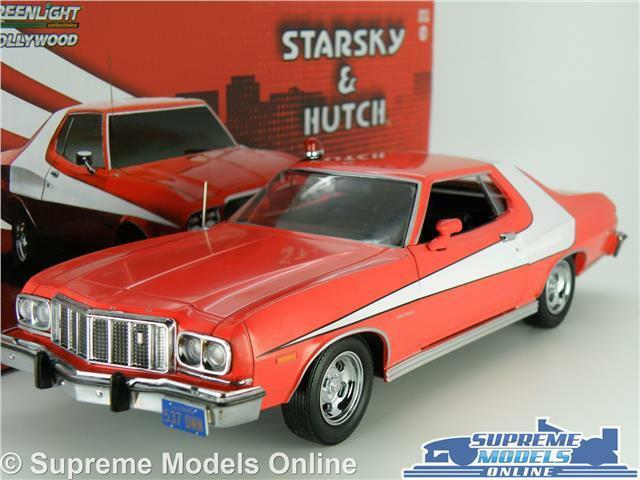 STARSKY & HUTCH FORD GRAN TORINO MODEL CAR 1 24 SCALE LARGE 1976 GREENLIGHT K8