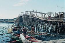792055 Bamboo And Wood Toll Bridge Davao Mindinao Philippines A4 Photo Print