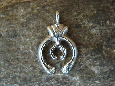 Large Navajo Indian Sterling Silver Squash Blossom Pendant Smith