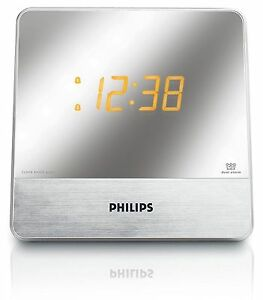 8f583cd6b1c Philips AJ3231 37 Mirror Finish Dual Digital Alarm Clock AM FM Radio ...