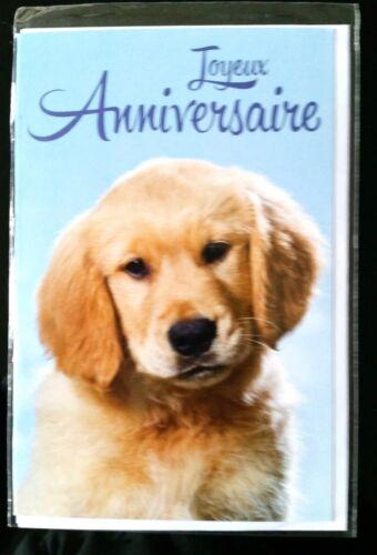 F15)Carte Joyeux Anniversaire Chien + enveloppe - Neuf