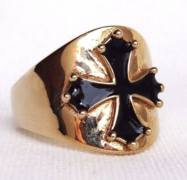 Cathar Catharism Men's Ring  Cross Esoteric Christian Medieval Knights