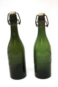 2-x-Antike-Bierflaschen-Gastwirte-in-Trautenau-1937-Productivgenossenschaft