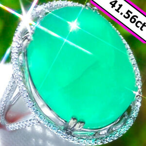 Emerald-Ring-14K-GOLD-41-56ct-Diamond-Estate-Vintage-Colombian-Emerald-Ring-NR