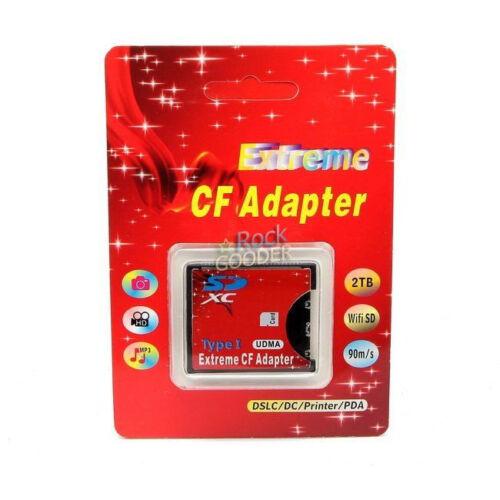 SDXC SDHC a Sd Wifi Tarjeta Compact Flash tipo I adaptador CF soporte Max 2 TB caliente