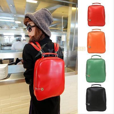 Fashion Women Girl PU Leather Backpack Handbag Shoulder Satchel School Bag