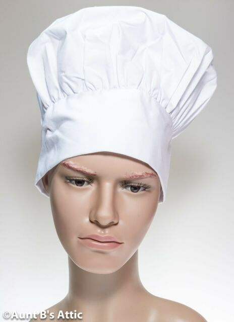 ACTLATI Professional Chef Hat Cotton Adults Cooking Peake Cap Cooks Caps Party Cosplay Kitchen Works
