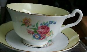 Vintage-bone-china-cup-amp-saucer-by-Rosina-made-in-England-1960s-1970s