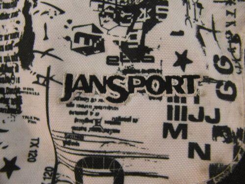JanSport Black White Shoulder Strap Laptop Bag School Backpack 32664