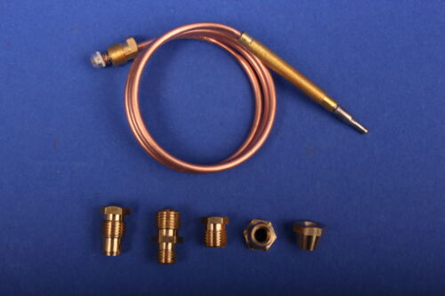 10x Universal Thermoelement 900 mm mit 5 Adaptern Gasgrill Gasherd Bräter z1k