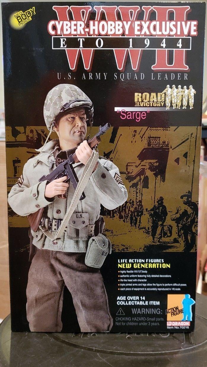 Dragon Cyber Hobby Vic Morrow Sarge TV Show de combate del ejército de Estados Unidos 12 figura 1/6 Escala