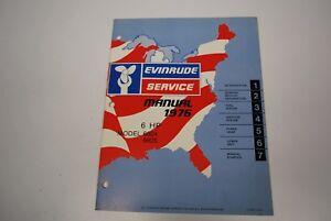 1976 Evinrude Johnson 6hp Outboard 6604 6605 Factory Shop Service Repair Manual