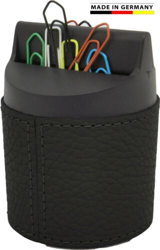 Made in Germany-Büroklammernspender Rindnappaleder 5 Farben von FIHA-Promotion