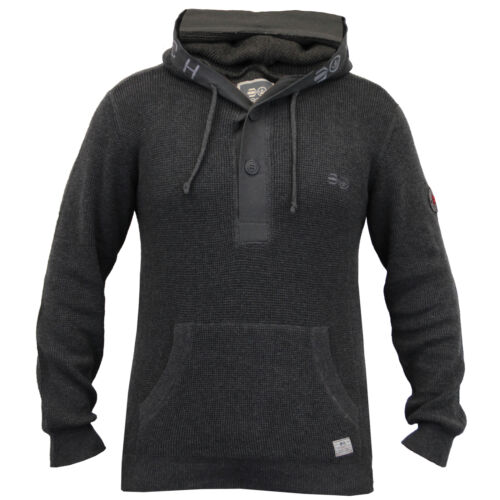over Haut Bouton Tricot À Hiver Crosshatch Capuche Homme Pull Neuf Pull nRq1484