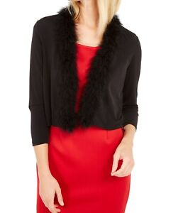 Calvin Klein Womens Jacket Black Size Small S Jersey Bolero Shrug $49 215