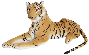 Brand New Large Brown Soft Tiger Toy Huge Cuddly Toy Fluffy In All Sizes