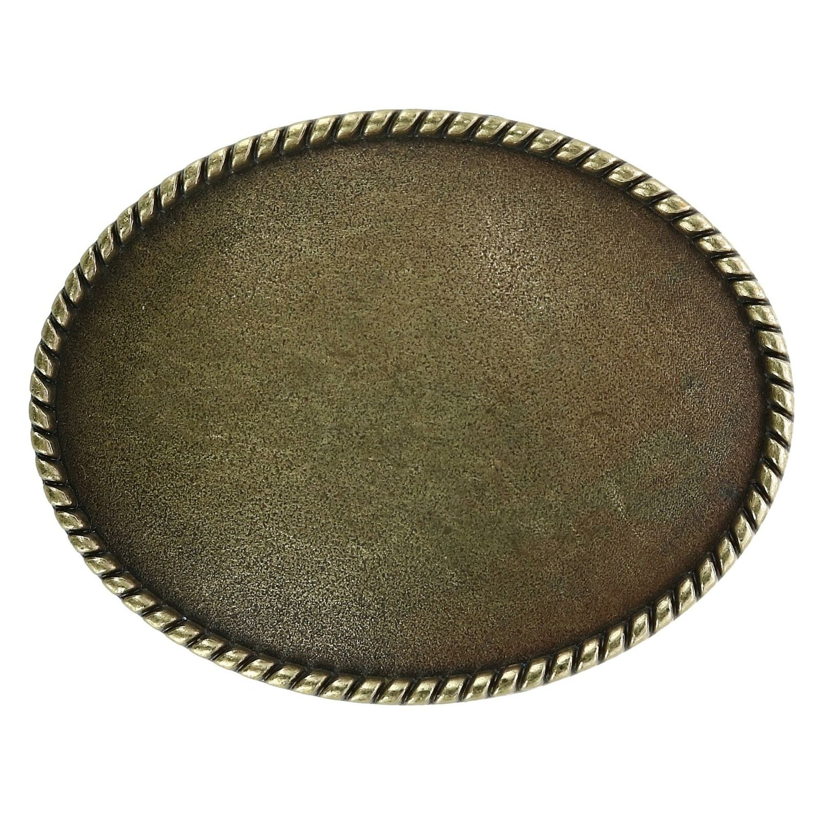 New CTM Blank Oval Belt Buckle with Edge Detail