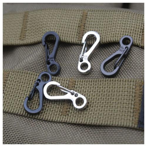10Pcs EDC Key Buckles Snap Spring Clip Hooks Carabiner Keychain Aluminium Alloy