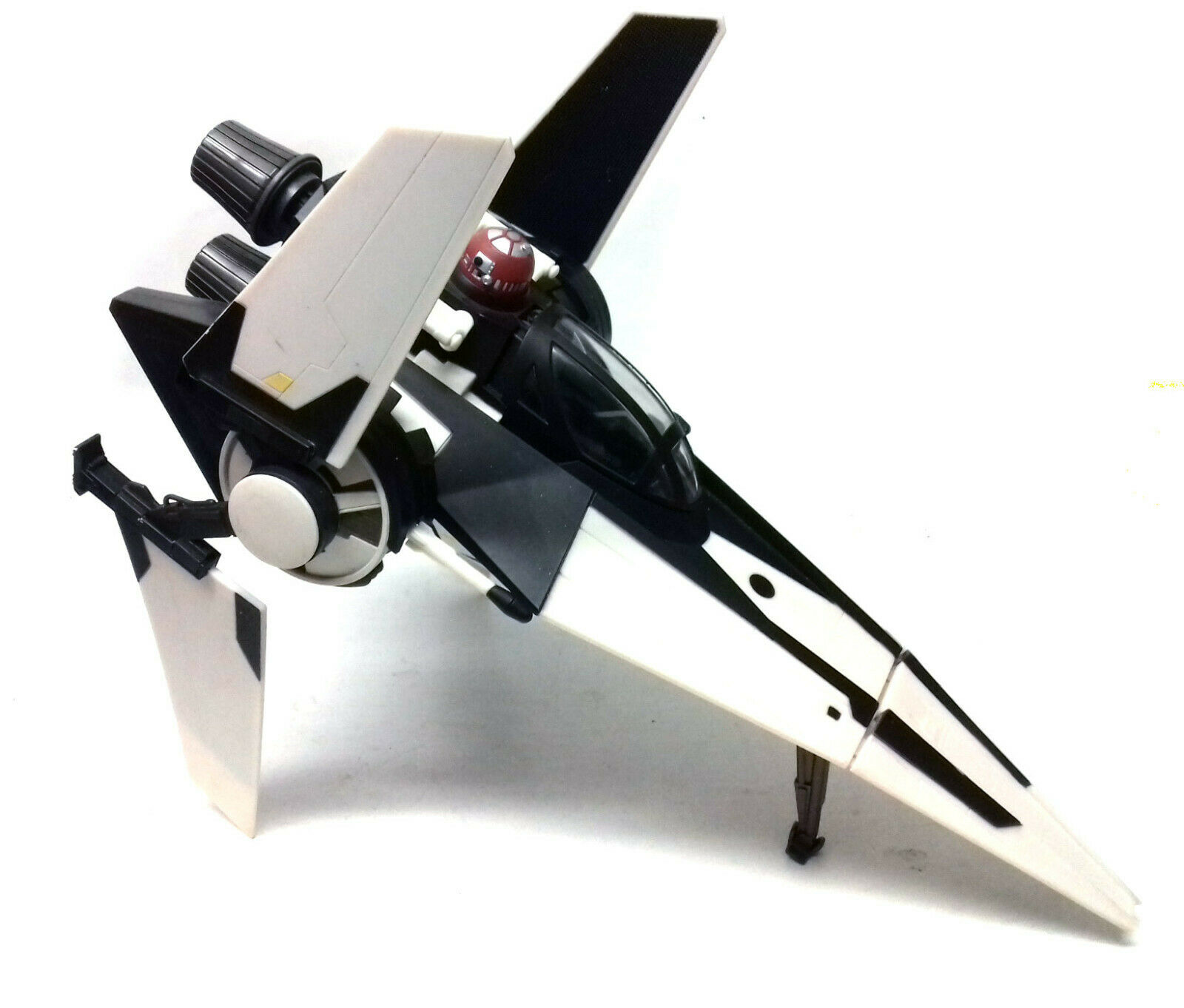 Star Wars V WING FIGHTER ship vehicle toy for 3.75  figures RARE schwarz MARKINGS
