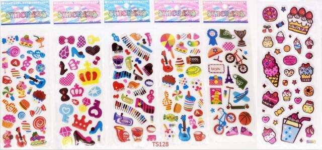 children/'s cartoon Stereoscopic puffy stickers ANIMALS 5pcs//lot birthday gift A+