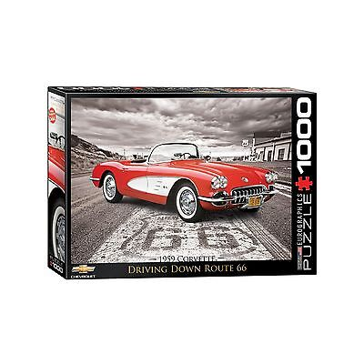 "1959 Corvette ""Driving Down Route 66"" Jigsaw Puzzle - 1000 pc."