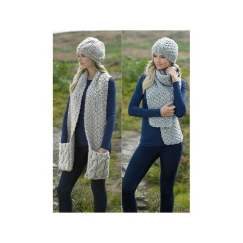 Knitting Pattern James C Brett JB215 Chunky Women/'s Hat /& Scarf