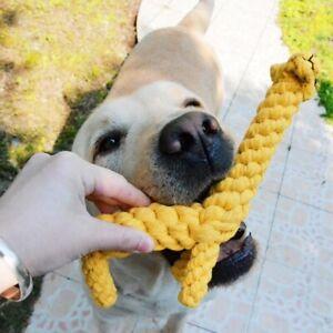 Dog Chew Toy Braided Rope Giraffe Pet Indestructible Teeth Dental Clea Jhs Ebay