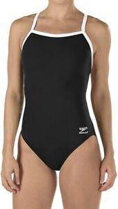 Speedo-Women-039-s-Swimwear-Black-Size-26-Endurance-One-Piece-Swimsuit-69-761