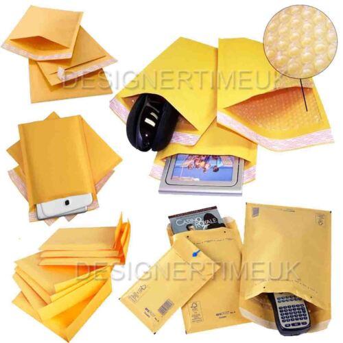 25 x J//6 Padded Gold Bubble Self seal Mailing Envelopes Bags 270x360mm JL6//J