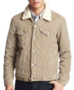 ae7e5fe6 Levi's Men's Button Up Corduroy Sherpa Fleece Lined Jacket Cream ...