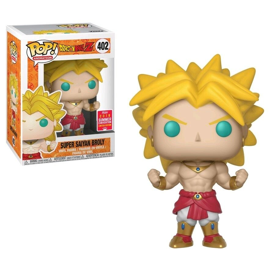 Funko Pop Dragonball Z Super Saiyan Broly 2018 SDCC  402 Vinyl Figure