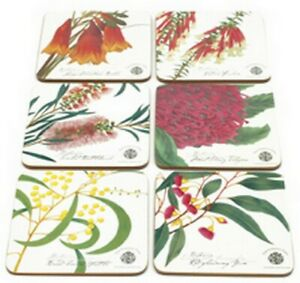 MAXWELL-amp-WILLIAMS-034-BOTANIC-FLORAL-COASTERS-SET-6-ASSORTED-034-FF1100-NEW-amp-BOXED