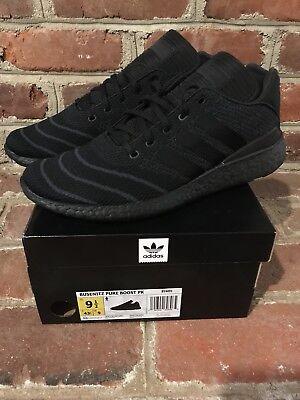 Adidas Busenitz Pure Boost Primeknit Triple черные туфли размер 10US   eBay