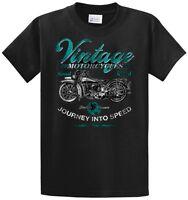 Vintage Motorcycles Printed Biker Tee Shirts Mens Regular And Big And Tall Sizes