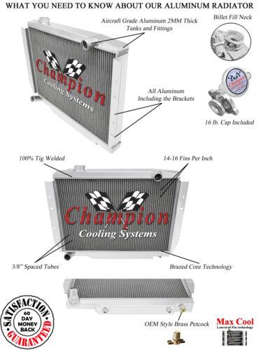3 Row SZ Champion Radiator for 1981-1986 Jeep CJ7